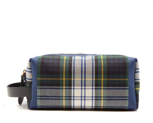 Burberry, Tartan Zip-Around Canvas Washbag £495