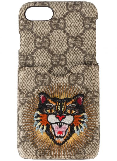 Gucci, Embroidered Angry Cat iPhone Case £150