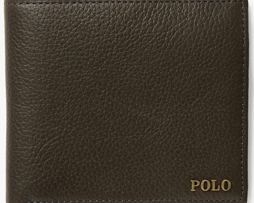 Polo Ralph Lauren, Leather Billfold Wallet Olive £55.20