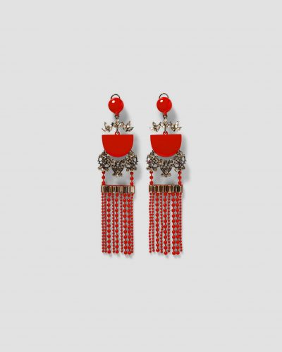 Zara, Beaded Fringing Drop Earrings £14